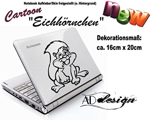 CARTOON STYLE   Aufkleber Skin f r Notebook Laptop EICHH RNCHEN