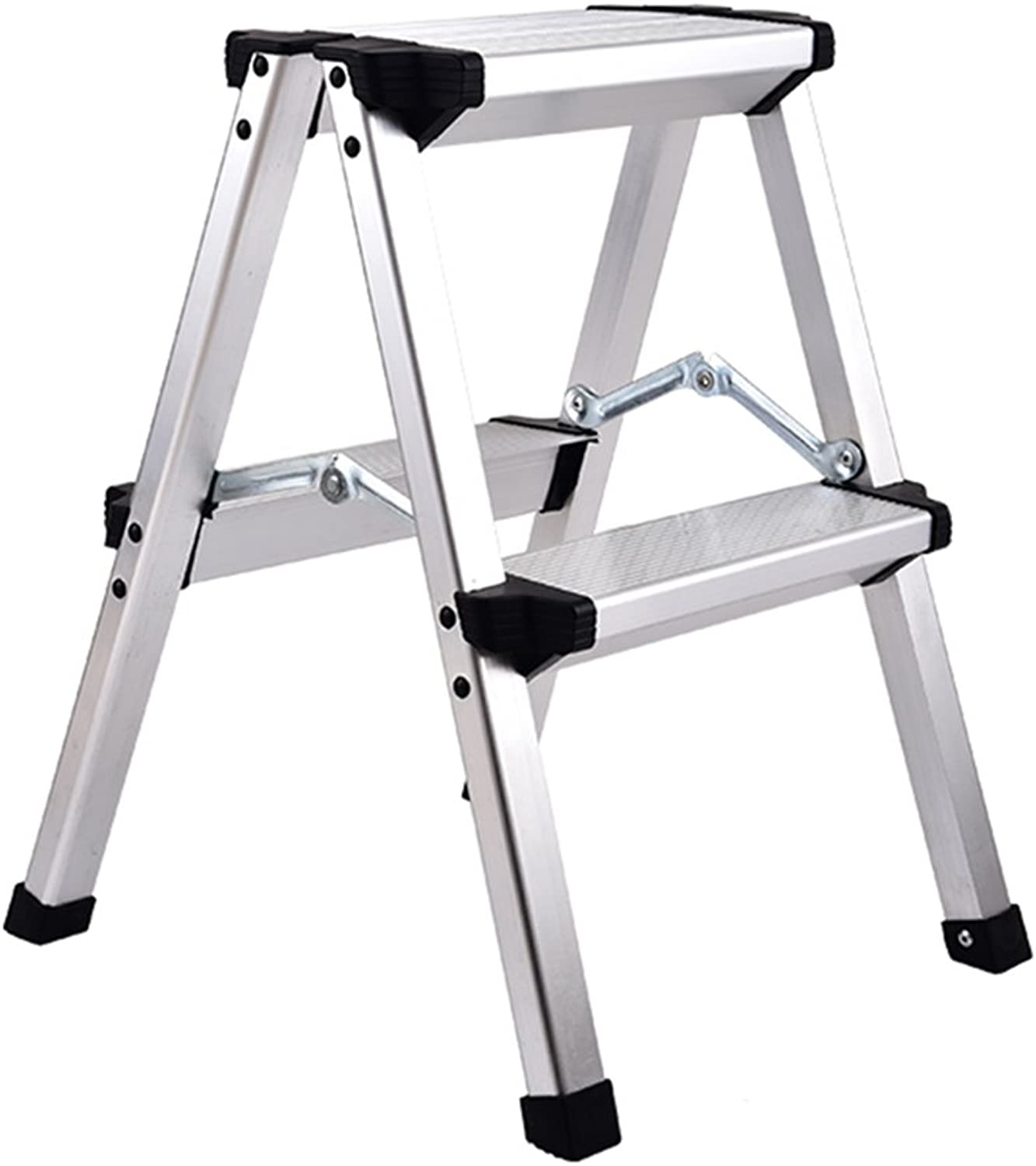 WUFENG Ladder Stool Foldable Multifunction Thicken Aluminum Alloy Engineering Ladder Ultralight Portable (color   A, Size   37x38x50cm)