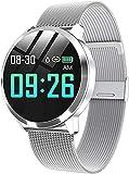 Bluetooth Smart Watch Stainless Steel Waterproof Wearable Device Watch Men and Women Fitness Tracker-C