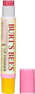 Burt's Bees 100% Natural Moisturizing Lip Shimmer, Strawberry, 1 Tube