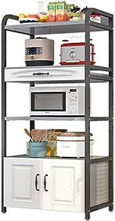 Étagère de rangement de cuisine européenne multi-couche avec porte d'armoire, étagère de cuisine, étagères, sur grille de ...