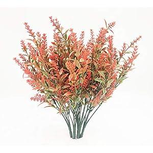 CSmile 10Pcs Lavender Flowers Artificial Bouquet for Decoration Outdoor Garden Patio Decor Wedding Table Flowers