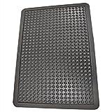 Rubber-Cal 03_184_ZWBK Bubble Top Anti-Fatigue Rubber Floor Mat, 5/8' x 2' x 3', Black Borders