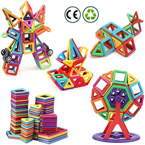 nicknack Mini Magnetic Blocks Toys 3D Magnetic Building Blocks for Kids Baby and Toddler Gift product image