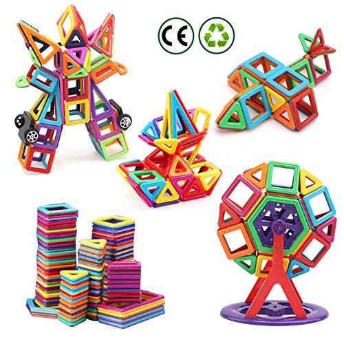 nicknack Mini Magnetic Blocks Toys 3D Magnetic Building Blocks for Kids Baby and Toddler Gift STEM Educational Toys, 116pcs