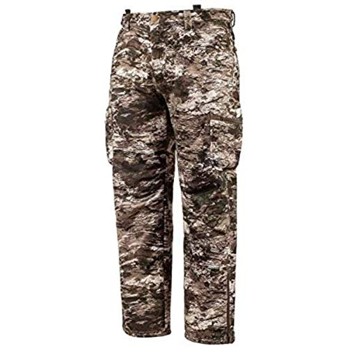 Huntworth Men's Heavy Weight Windproof Soft Shell Hunting Pants (Tarnen Camo, X-Large)