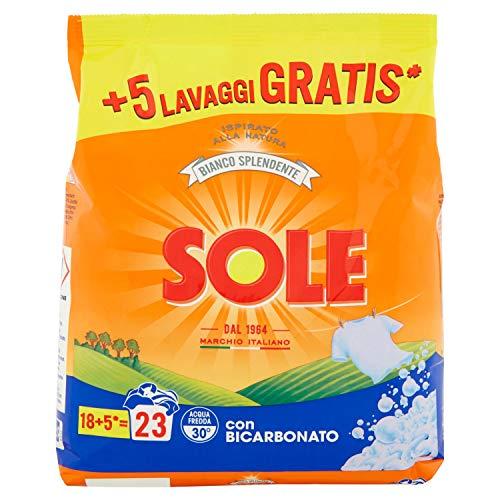 Sole - Bianco Solare, Detersivo con Bicarbonato , 1.17 kg