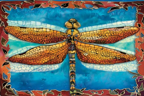 Tree-Free Greetings Noteables Notecards In Reusable Embossed Tin, 12 Card Assortment, Recycled, 4 x 6 Inches, Dragonflies, Multi Color (76016) Photo #2