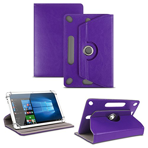 NAUC Tablet Tasche für Captiva Pad 10 3G Plus mit Ständerfunktion Hülle Schutztasche Schutzhülle Stand Tasche Etui Cover Case 360° drehbar, Farben:Lila