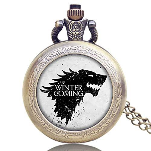Reloj de bolsillo para hombre, Game of Thrones, reloj de bolsillo de cuarzo clásico, regalo único para hombres