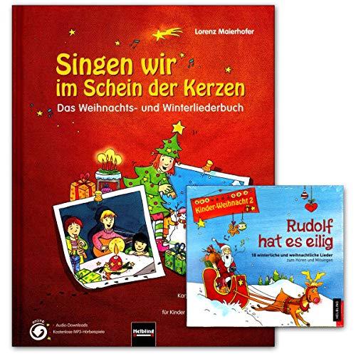 Zingen wij in het schein van de kaarsen - boek, CD - een enthousiasme kerst- en winterliederboek - met 177 liedjes, snoepjes, kanons etc - Helbling Verlag 9783850615655 9783850617833
