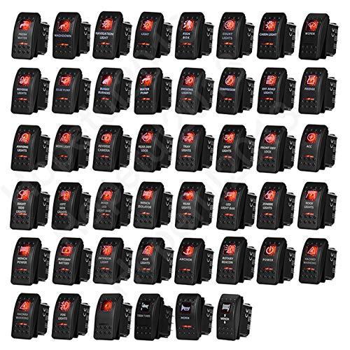 Para Carling ARB NARVA 4x4 estilo Rocker Interruptor de Rocker Rojo LED Barra de luz 5 Pin en Off of of of of of of of of of of of of of of of of of of of of of of of of of of of of of of of of of of