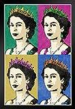 Poster Queen Elizabeth II, Holz, gerahmt, 35,6 x 50,8 cm,