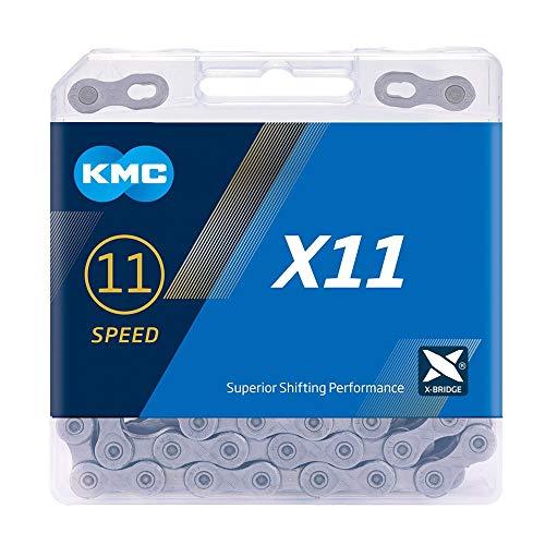 KMC X11 Cadena, Unisex Adulto, Gris, 118 Link