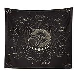 Constelación Astrología Sol Luna Tapiz Colgante de pared Decoración de la habitación Estética psicodélica Tapiz Manta A2 180x230cm