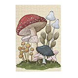 300 Piece Jigsaw Puzzles - Mushroom 300 Large Piece Jigsaw Puzzle for Adults and Kids,Puzzle Game Toys for Living Room Bedroom Wall Decoration
