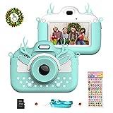 Kinderkamera Digitalkamera, Vannico Touchscreen Video Fotokamera für Kinder, Kinderkamera Kleinkind Kamera mit 16G SD Karte, Geburtstag für Mädchen Jungen (Blau)