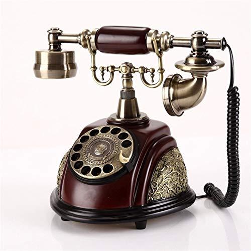 Teléfono creativo decorativo retro Teléfono Retro Liña Dial Rotary Teléfono Sala de estar Estudio Retro Decoración Inicio Oficina Teléfonos Teléfonos Teléfono Inicio Oficina Regalos / Decoraciones / C