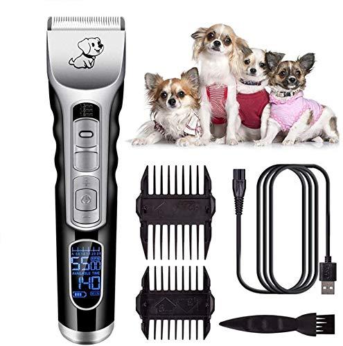 Clippers de pelo para hombres Profesionales Pet Grooming Clippers, estética kit de recorte, cuchillas y desmontable sin cuerda recargable, for el perro, gato, animal doméstico, animal para hombres, pe