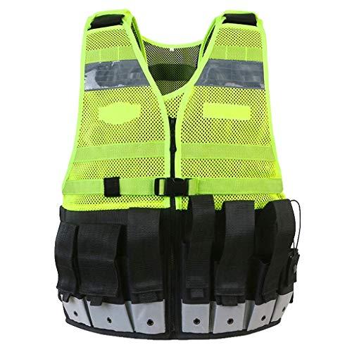 DBSCD Sicherheitsweste für Männer, Sicherheitskleidung Reflektierende Weste Weste Taktische Weste Farbabstimmende Weste Gelb