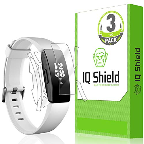 IQ Shield Full Body Skin Compatible with Fitbit Inspire HR (3-Pack) + LiQuidSkin Clear (Full Coverage) Screen Protector HD and Anti-Bubble Film