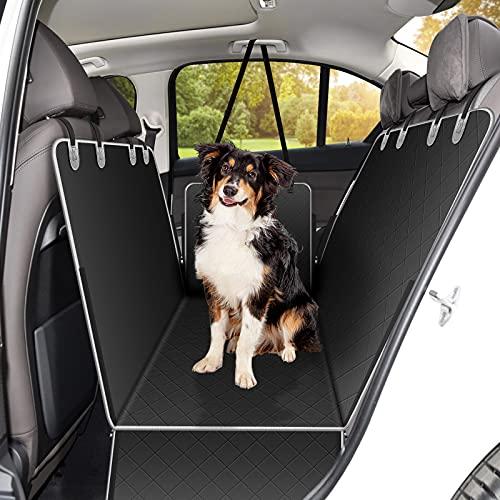 Alfheim Coprisedile Auto per Cani, Coprisedile Posteriore per Cani Impermeabile e Antiscivolo, Protezione per Seggiolino Auto Lavabile con Alette Laterali Universale per Camion e SUV