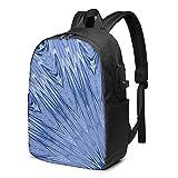 Kaleidoscope - Mochila USB de 17 pulgadas, mochila grande para portátil para hombres, mujeres, adolescentes, carga USB, puerto de auriculares, mochila de viaje