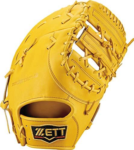 ZETT(ゼット) 軟式野球 プロステイタス ファーストミット 新軟式ボール対応 トゥルーイエロー(5400) 右投げ用 BRFB30913