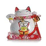 Lucky Cat Hucha Adornos de cerámica vasija del Tesoro Grande -19 * 19 * 18