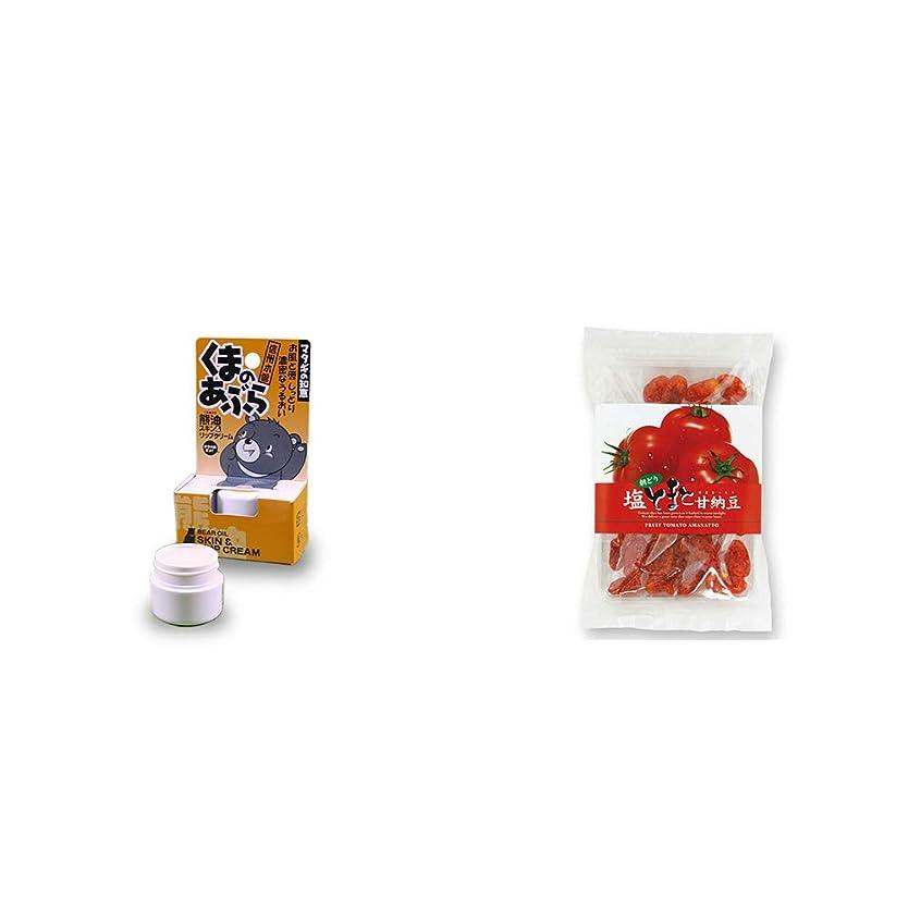 なに協同泣いている[2点セット] 信州木曽 くまのあぶら 熊油スキン&リップクリーム(9g)?朝どり 塩とまと甘納豆(150g)