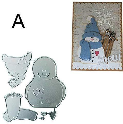 Starmood Schneemann Metall Schneiden Schablonen Scrapbook Papier Basteln Weihnachten Prägung Stanze Schablone Form - EIN
