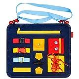Regalos de Juguete para niños pequeños de 2-5 años, Aprendizaje Montessori Tablero Ocupado Juguetes para niña Niño Bebé Edad 1-3 Niño Actividad educativa sensorial Juguete para niños de 4-6 años Niño