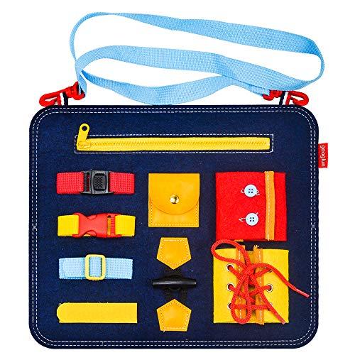 Eala Spielzeuggeschenke für 2-5 Jahre alte Kleinkindkinder, Lernen Montessori Busy Board Spielzeug für Mädchen Jungen Baby Alter 1-3 Pädagogische sensorische Aktivität Board für 4-6 Jahre alte Kinder