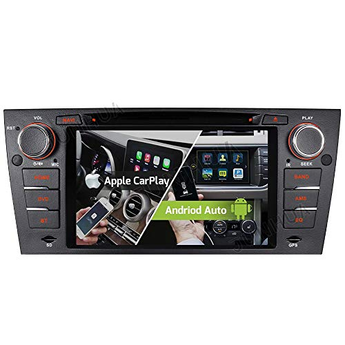 Android 10 Carplay Android Auto 2GB+32GB Dual-Tuner-Radio Bluetooth 5.0 Rohm-DSP mit navi DVD Player GPS für BMW 3er E90 E91 E92 E93 DAB+ WiFi 4G-LTE USB Subwoofer AV-Out Touch Screen