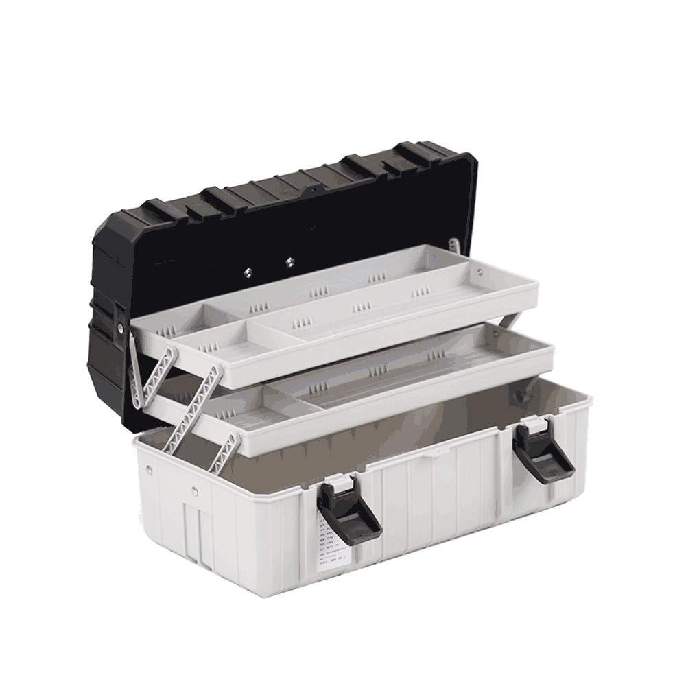 BS Caja de herramientas, Caja de herramientas de plástico grande Caja de almacenamiento de tres capas Hardware Caja de herramientas Inicio Caja multifunción de reparación de automóviles caja de herram: Amazon.es: Coche