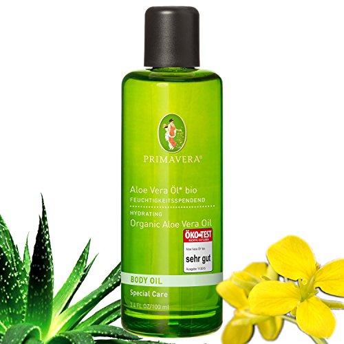 Primavera Bio Körperöl Massageöl 100% naturreine ätherische Öle, Duft:Aloe Vera Öl Bio