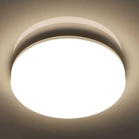Oeegoo LED Deckenleuchte Bad IP54 Wasserdicht Badlampe Wandleuchte Feuchtraumleuchte 12w 960Lm Deckenlampe f/ür Badezimmer Schlafzimmer Treppe Terrasse Flur Keller Garten Neutralwei/ß 4000K