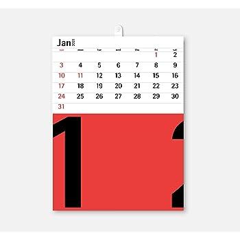 2021年度版 aru デザインカレンダー 壁掛け WHT-02