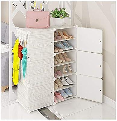 shoe rack Shoebox_12-Cube DIY PláStico Enclavamiento Zapatero Gabinete Organizador De Almacenamiento De EstanteríA Modular