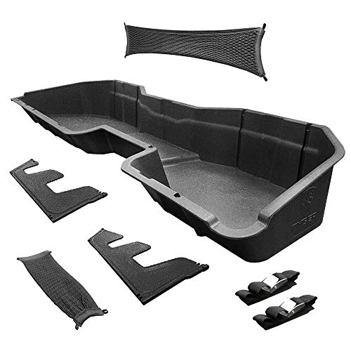 Tyger Auto Underseat Storage Box Compatible with 2014-2018 Chevy Silverado/GMC Sierra LD; 2015-2019 Silverado/Sierra HD Crew Cab | Black Rear Under Seat Storage Organizer Cargo Box | TG-CB5C2238
