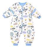 FEOYA - Saco de dormir para bebé con pies, para invierno, con piernas, para niños y niñas, para todo el año, con mangas desmontables, para dormir con pies, para bebé, niña, para verano, 9-18 meses