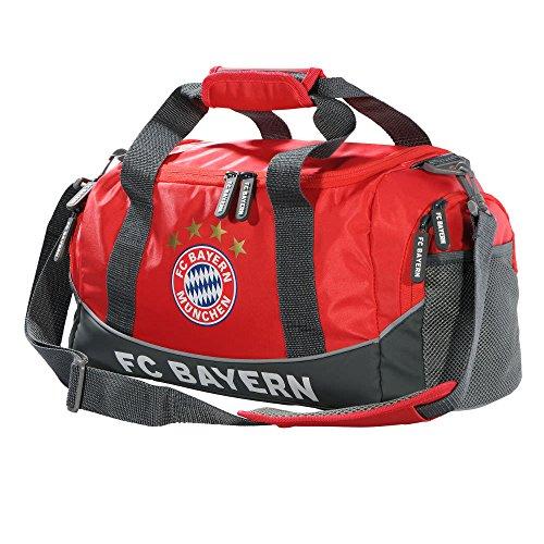 FC Bayern München Sporttasche- 43 x 23 x 17,5 cm, Rot