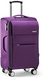 YCYHMY Oxford Cloth Suitcase Travel Luggage Suitcase Men and Women Invisible Layer Expansion Waterproof wear-Resistant Universal Wheel Trolley case Purple 18 inch