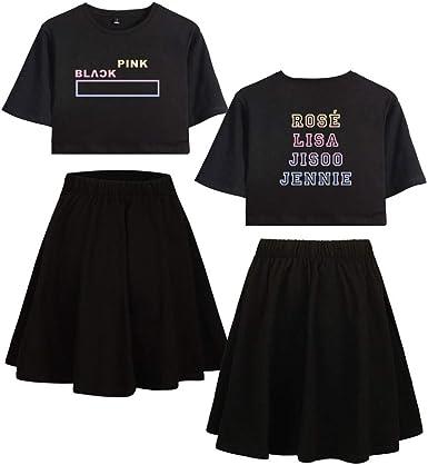 Juego de 2 camisetas y faldas, color rosa, de manga corta ...