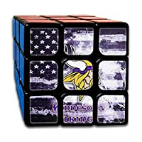 AGemini Minnesota Vi-Kings Stickerless Puzzle Cube Cool Toy Engineered for Fun Speed Solving Game Desk Gadget for Adults and Kids Party Favor Stocking Stuffer Stress Relief Activity