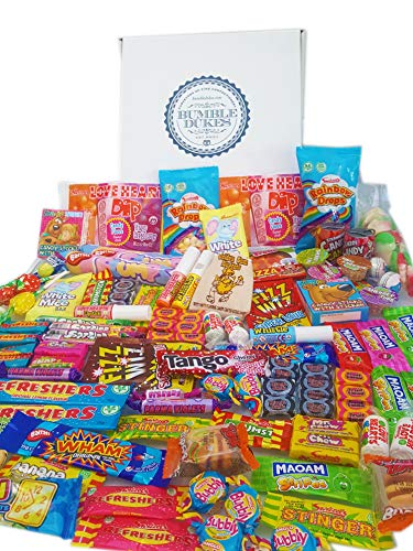 Bumbledukes Ultimate Retro Sweets & Chocolate Hamper - British Sweets Selection Box - Over 100 Sweets. A Huge Sweet Selection Box