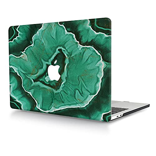 ACJYX Compatible with MacBook Pro 13 inch Case 2016-2020 Release A2338 M1 A2251 A2289 A2159 A1989 A1706 A1708, Matte Plastic Hard Protective Case Shell Cover - Green Marble 1