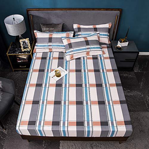 ボックスシーツ 枕カバー 3枚セット セミダブル 120*200*30 枕カバー 63*43 マットレスカバー ベッドシーツ(デザインK, セミダブル)