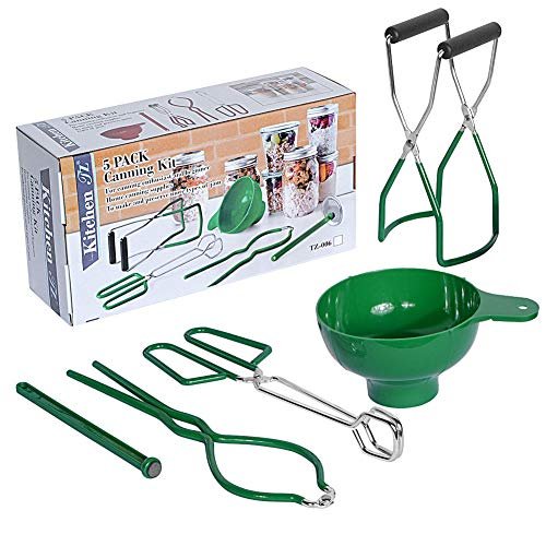 Canning Kit Home Canning Essentials 5-Piece Boxed Set Include Canning Funnel, Jar Lifter, Jar...