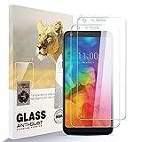 zidwzidwei Protecteur d'écran pour LG Q7[2 Pack] HD Film de Verre en Acier Résistant aux...